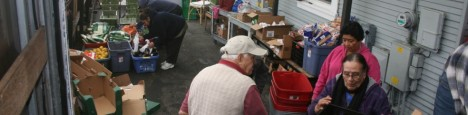 food distribution at RC Catholic Worker
